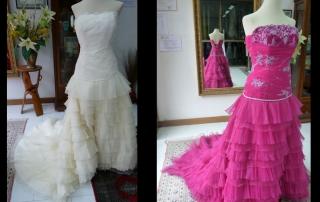 Wedding dress dyeing - Teñir vestido de novia