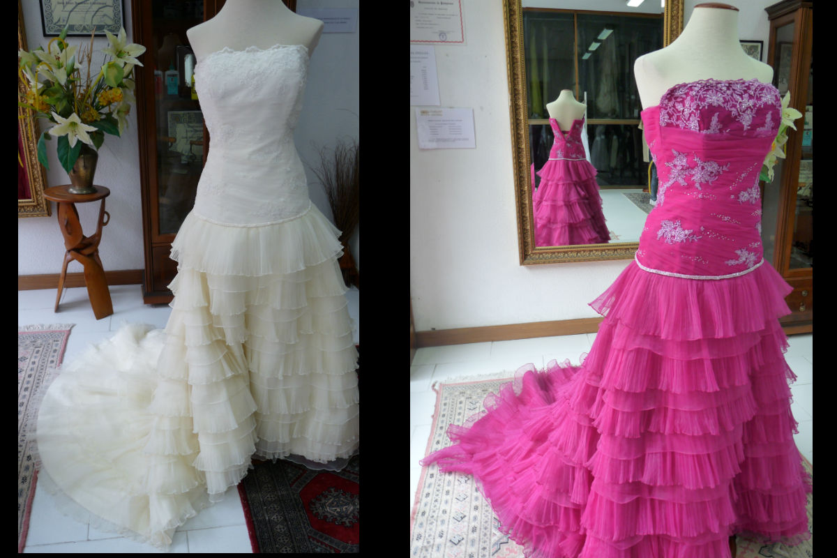 Wedding dress dyeing - Teñir vestido de novia