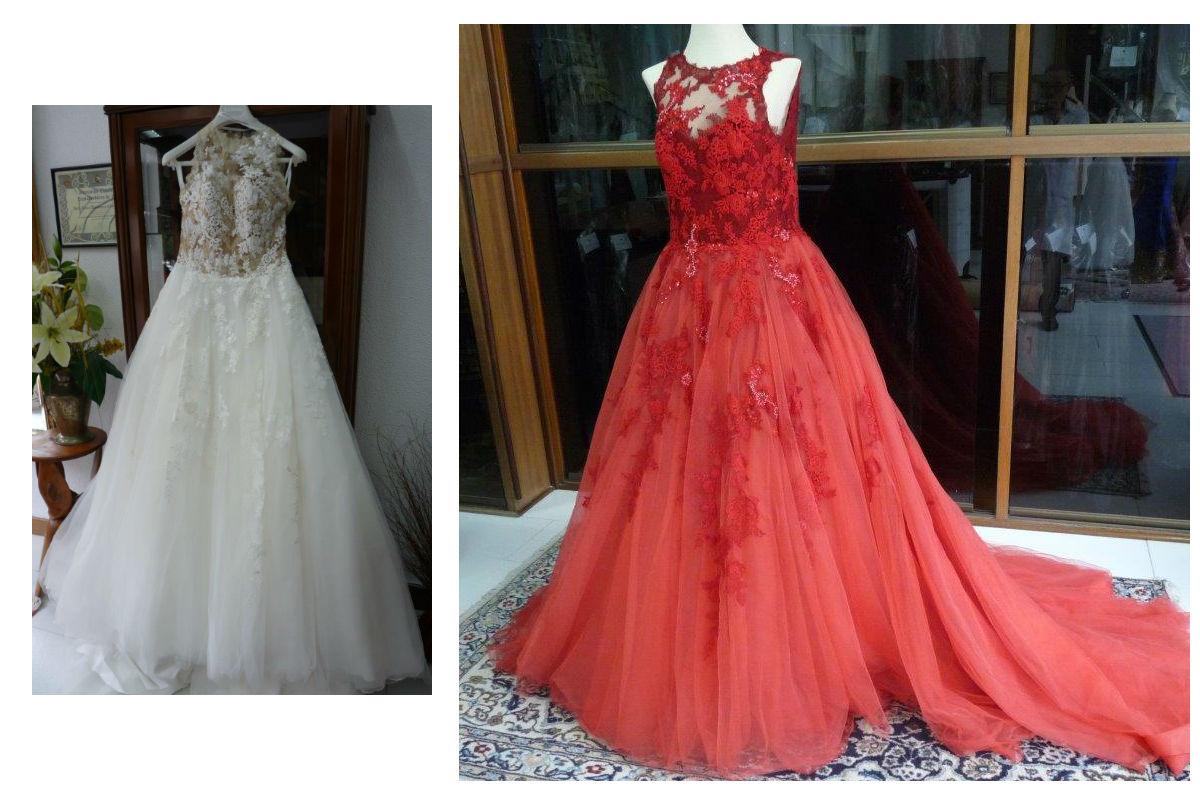 teñir vestido novia