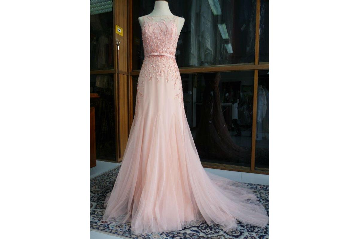 Vestidos de novia rosa y gris