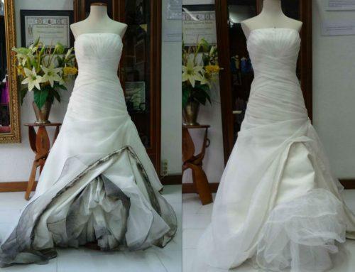 Limpiar Vestido de Novia : antes y después