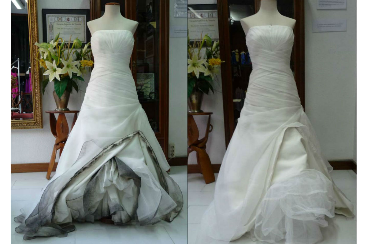 Se puede lavar el vestido de novia