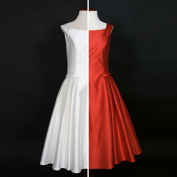 Teñido de vestidos