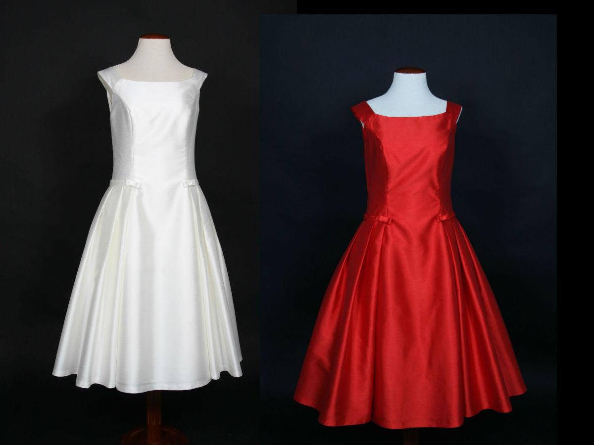 Teñido vestido novia a rojo